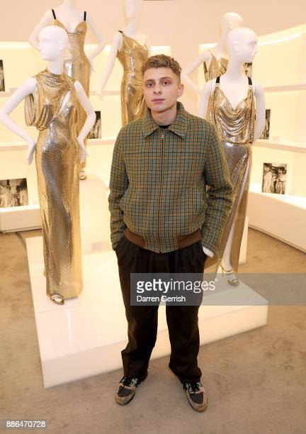 Blondey McCoy attends the Versace Boutique Opening on Sloane Street on December 5 2017 in London England