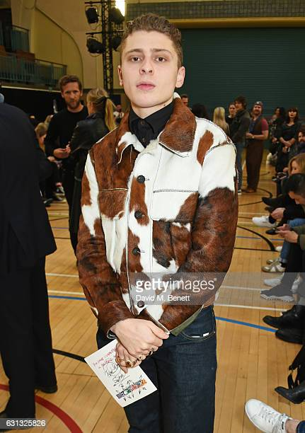 Blondey McCoy attends the Vivienne Westwood show during London Fashion Week Men's January 2017 collections at Seymour Leisure Centre on January 9...