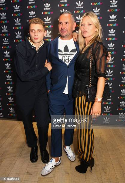 Blondey McCoy Fat Tony and Kate Moss attend adidas 'Prouder' A Fat Tony Project in aid of the Albert Kennedy Trust supporting LGBT youth at Heni...