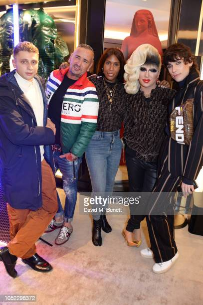 Blondey McCoy Fat Tony Honey Dijon Jodie Harsh and Kyle De'Volle attend the FENDI MANIA Collection Launch on October 16 2018 in London England