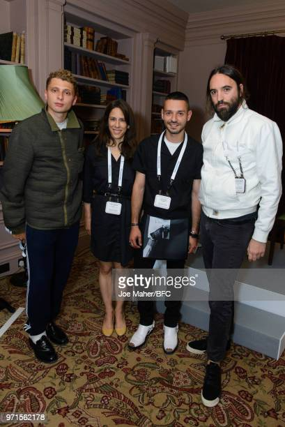 Blondey McCoy Tammy Smulders Starvos Karelis and Ferdinando Verderi at the London Fashion Week Men's British Fashion Council Fashion Forum at the The...