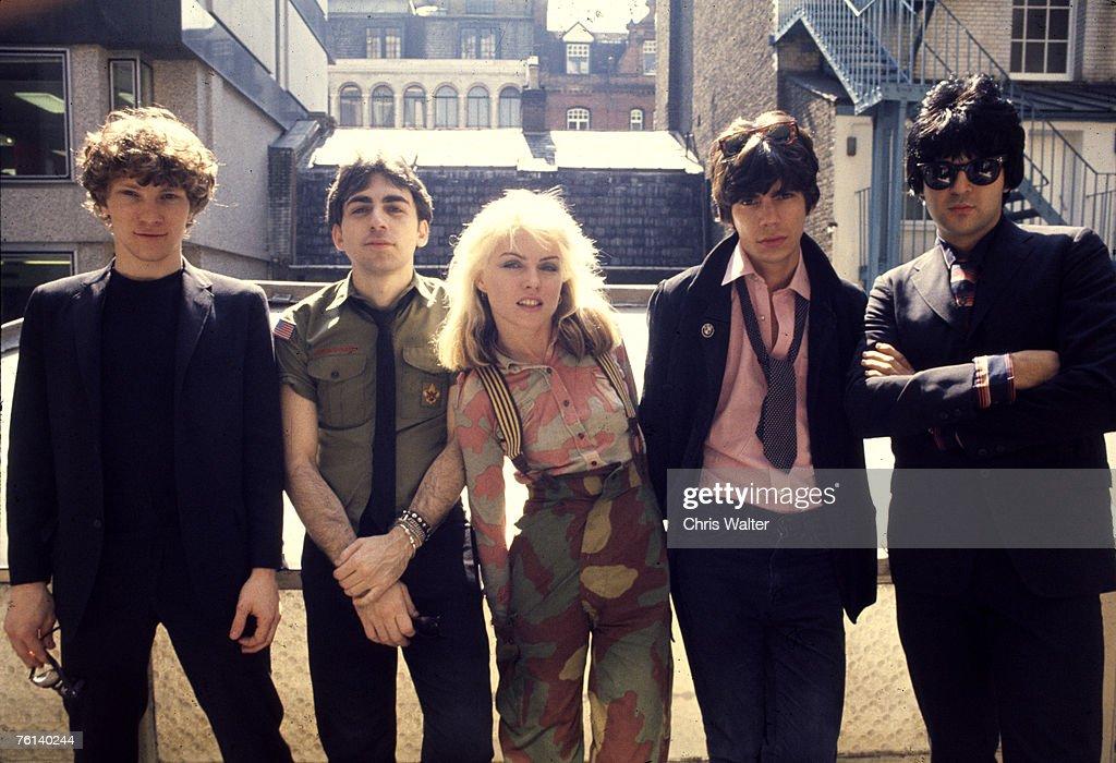Blondie 1976 (L R) Gary Valentine, Chris Stein, Debbie Harry, Jimmy Destri