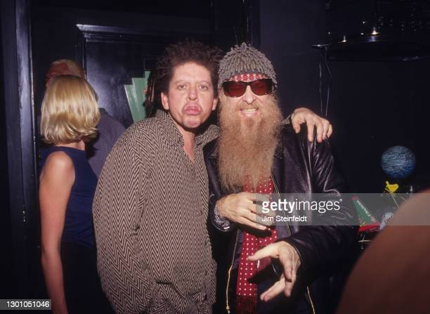 Blondie Chaplin, Billy Gibbons pose for a photo at the Viper Room in Los Angeles, California on November 5, 1997.