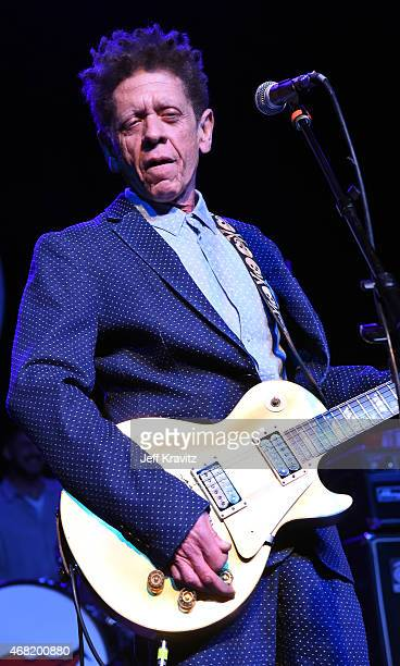 Blondie Chaplin performs onstage at Brian Fest: A Night To Celebrate The Music Of Brian Wilson at The Fonda Theatre on March 30, 2015 in Los Angeles,...