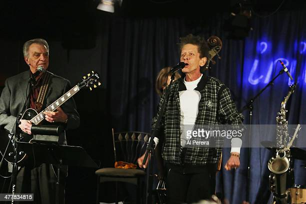 Blondie Chaplin performs with the Les Paul Trio at Iridium Jazz Club on March 10, 2014 in New York City.