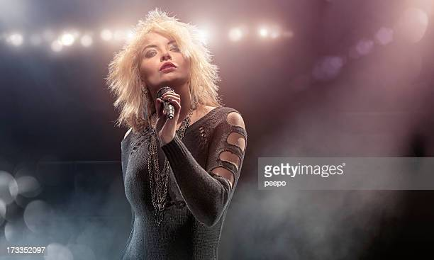 Blondie Lookalike Singer on Stage