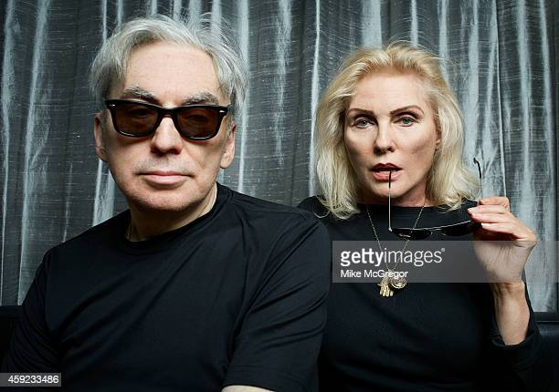 Blondie members Debbie Harry and Chris Stein are photographed for The Observer Newspaper on October 21 2014 in New York City