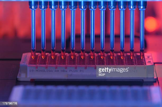 Blood Analysis, Transfusion Center, Biological Qualifications Of Donation, Automated Serology Analysis Of Microplates.