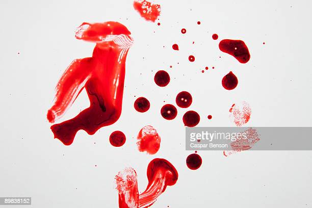 blood and fingerprints - blood stock pictures, royalty-free photos & images