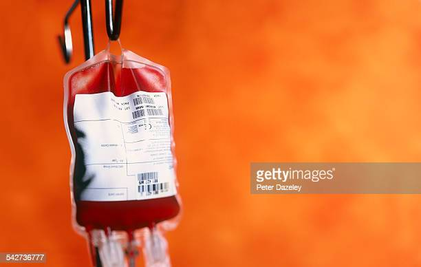 Blood bags in a hospital