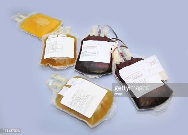 血液バッグ、赤と白の血液細胞