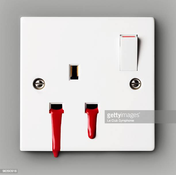 Blood coming out of electrical socket