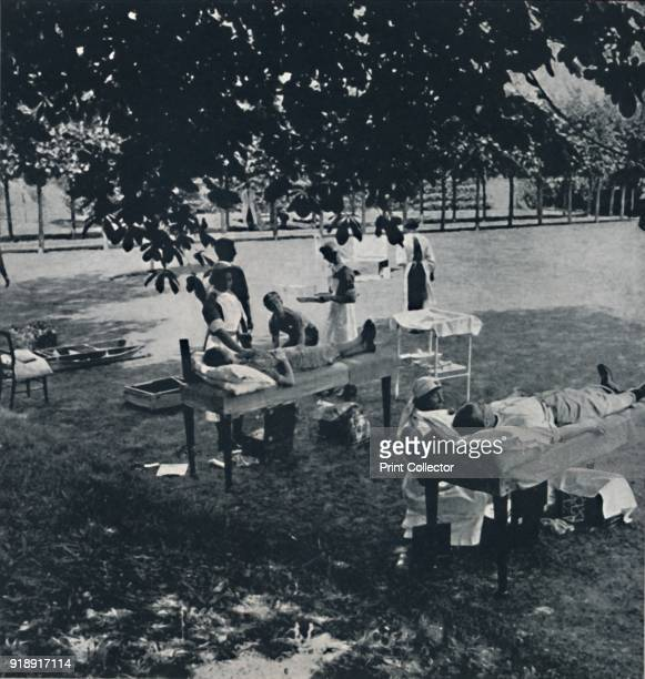 'Blood donors' 1941 Patients lie on beds set out on the lawn of a country house that has been commandeered for use as a convalescence hospital From...