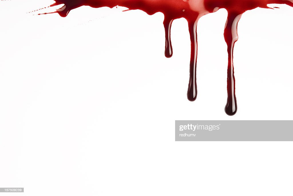 Blood Dripping : Stock Photo