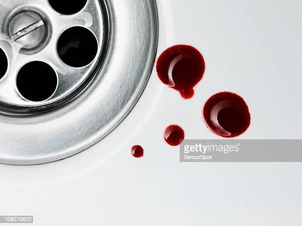 Blood Drops in Sink