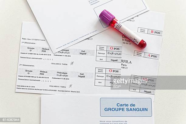 Blood group cards