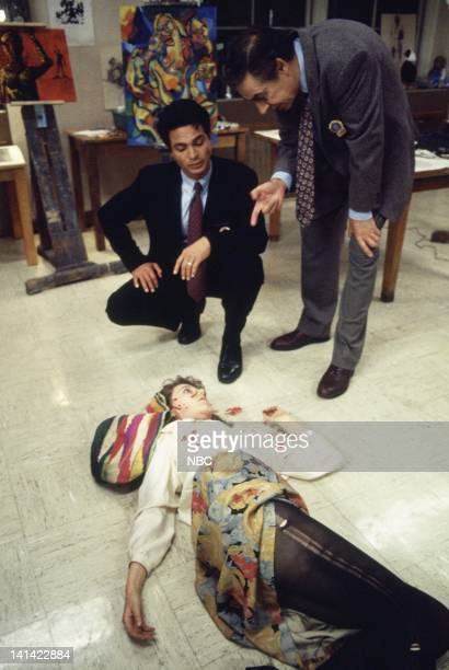 LAW ORDER Blood Libel Episode 9 Aired Pictured Benjamin Bratt as Detective Rey Curtis Jerry Orbach as Detective Lennie Briscoe Liz Larsen as Lana...