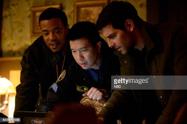 """Blood Magic"""" Episode 610 -- Pictured: Russell Hornsby as Hank Griffin, Reggie Lee as Sergeant Wu, David Giuntoli as Nick Burkhardt --"""