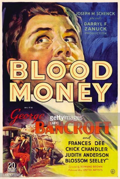 Blood Money poster George Bancroft 1933