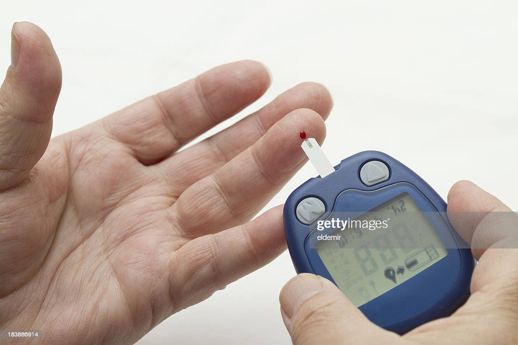 Blood Monitor Glucose Test : Stock Photo