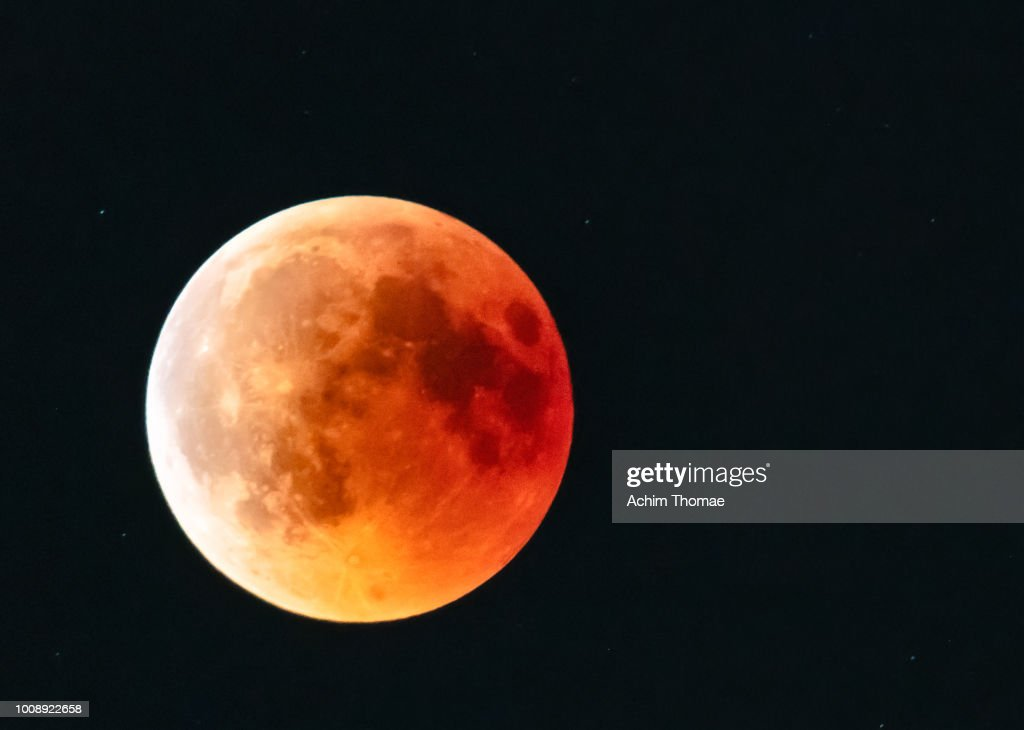 Blood Moon 2018, Salzburg Austria : Stock Photo