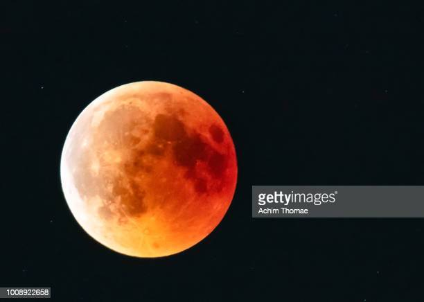 blood moon 2018, salzburg austria - moon stock pictures, royalty-free photos & images