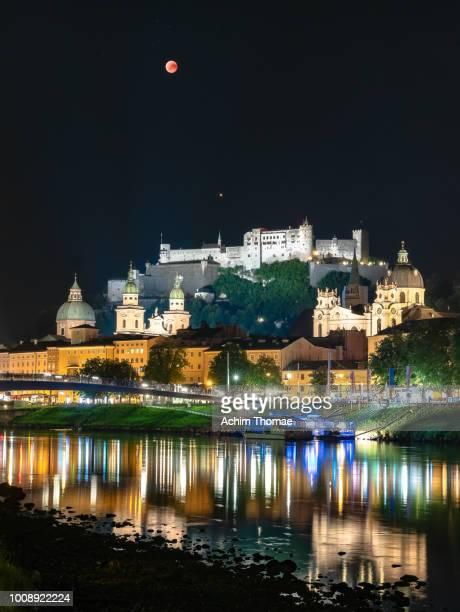 Blood Moon above Salzburg, Salzburg, Austria