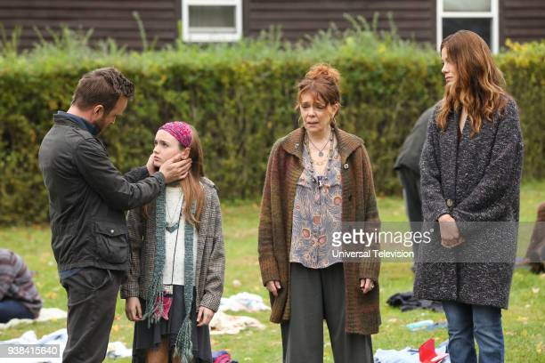 THE PATH Blood Moon Episode 313 Pictured Aaron Paul as Eddie Lane Aimee Laurence as Summer Lane Deirdre O'Connell as Gab Armstrong Michelle Monaghan...