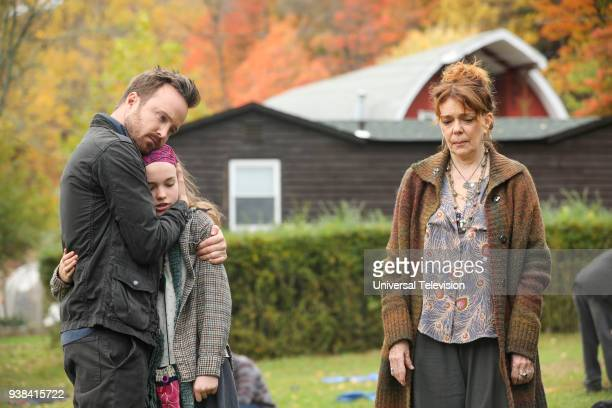 THE PATH Blood Moon Episode 313 Pictured Aaron Paul as Eddie Lane Aimee Laurence as Summer Lane Deirdre O'Connell as Gab Armstrong