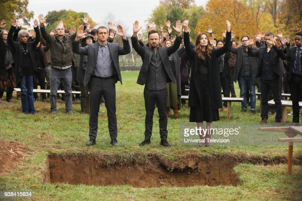 THE PATH 'Blood Moon' Episode 313 Pictured Hugh Dancy as Cal Roberts Aaron Paul as Eddie Lane Deirdre O'Connell as Gab Armstrong Michelle Monaghan as...
