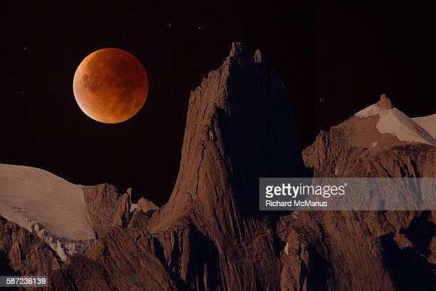 Blood moon over Bear Island.