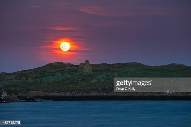 Blood Moon over Dalkey Island