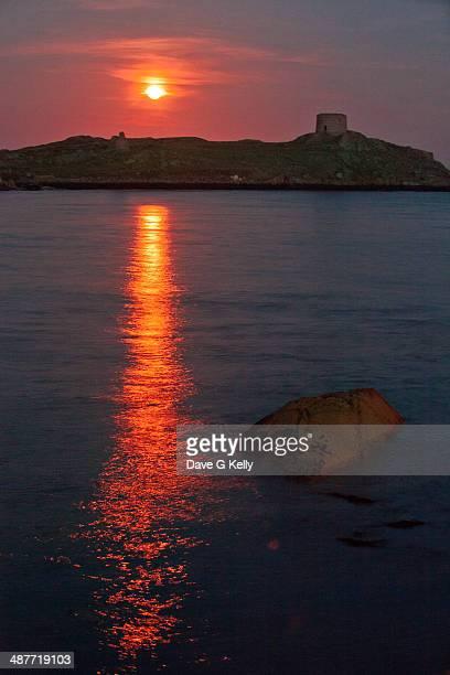 Blood Moon over Dalkey Island