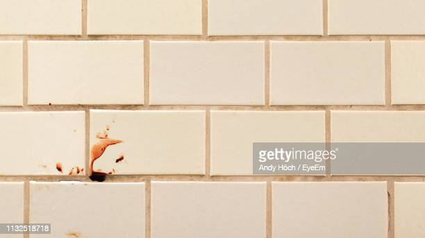 blood on wall - crime scene stock pictures, royalty-free photos & images