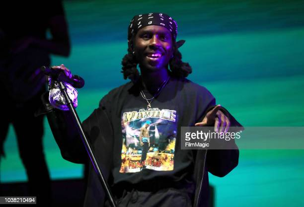 Blood Orange performs on Bacardi Sound of Rum Stage during the 2018 Life Is Beautiful Festival on September 22 2018 in Las Vegas Nevada