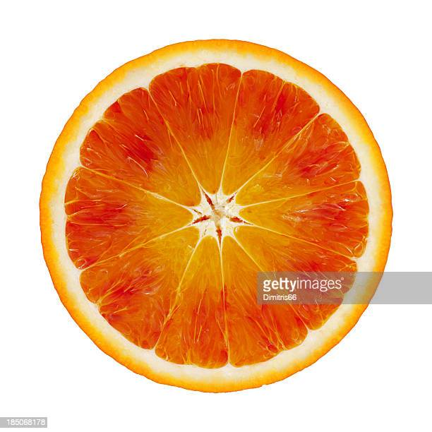 Blood orange portion on white