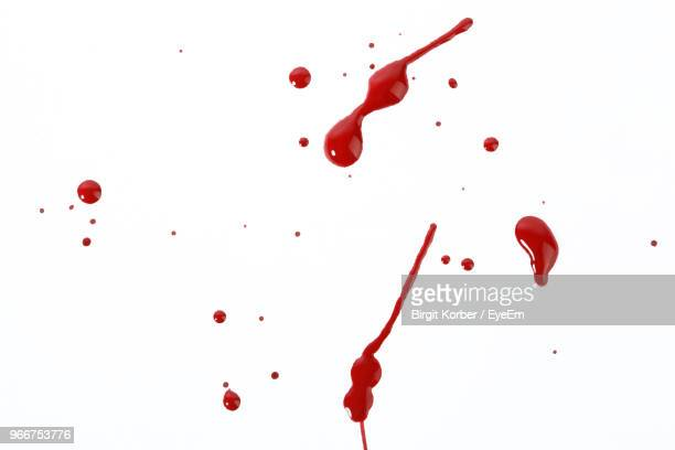 Blood Over White Background