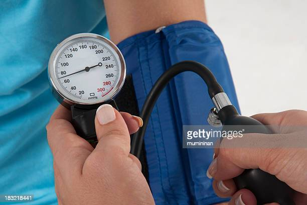 Blood pressure cuff is used for blood pressure checking