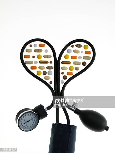Blood pressure pills, conceptual image