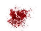 Blood red paint ink splatter sample