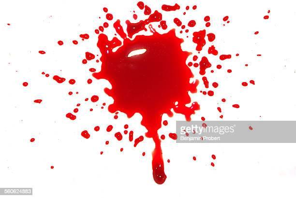 Blood splatter with drip