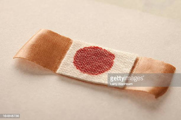 blood stain on plaster - human blood stock pictures, royalty-free photos & images