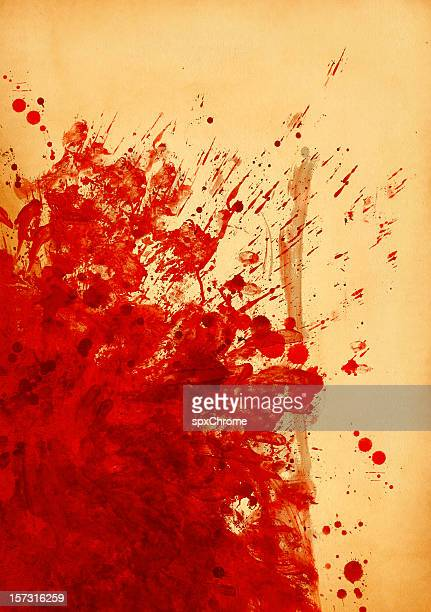 blood stained canvas - blood splatter stock photos and pictures