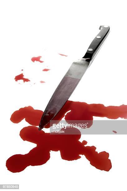 vitrales asesinato arma de sangre - sangre humana fotografías e imágenes de stock