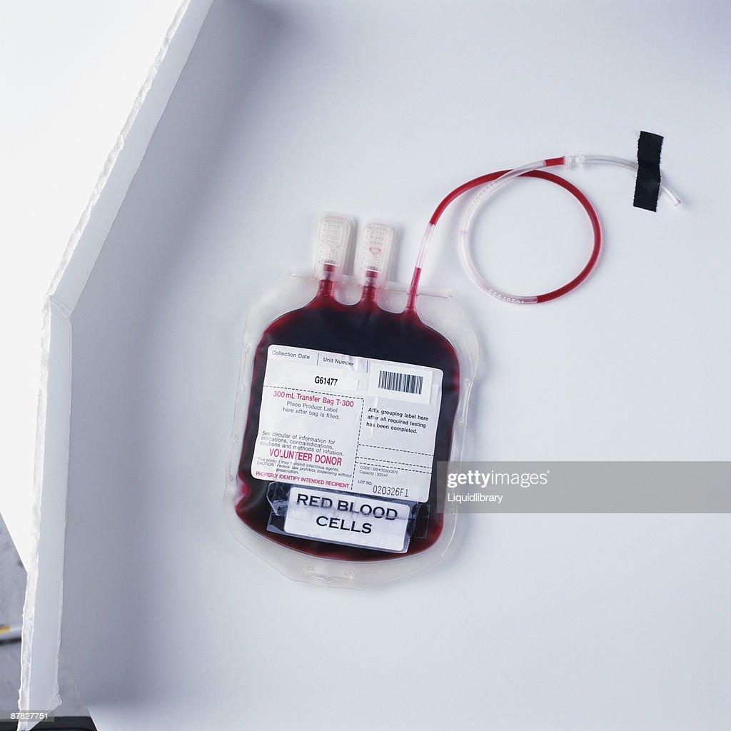 A blood transfusion bag : ストックフォト