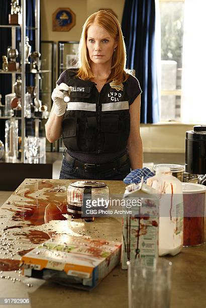 """Bloodsport"""" -- Catherine investigates the murder of a popular football coach and visits his home to follow the evidence and solve the crime, on CSI:..."""