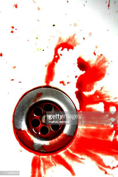 bloody day - blood in sink stock pictures, royalty-free photos & images