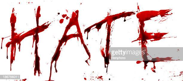 bloody hate - blood splatter stock photos and pictures