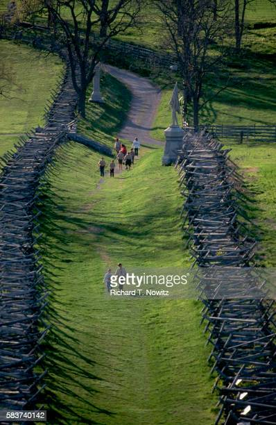 bloody lane at antietam - american civil war stock pictures, royalty-free photos & images