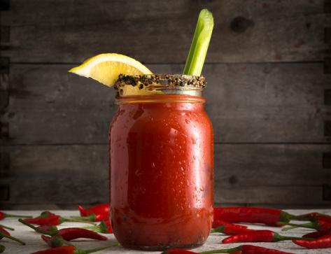 Bloody Mary in Mason Jar 467641551